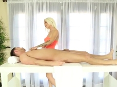 Beautiful lingerie masseuse spermy mouthed