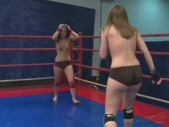 Nude fight club presents Lexy Little vs Nicole Sweet.