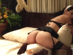 The Maid Honor: Busty Lesbian Maid Humps Pillow And Orgasms