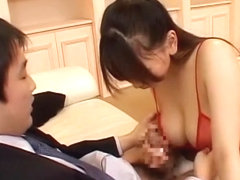 Crazy Japanese girl Ai Sayama in Amazing Handjob, Couple JAV video