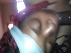 Great homemade video of ebony chick satisfies her man