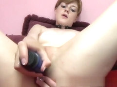 Ava Little is stuffing a double ended dildo in her hot pussy and ass.