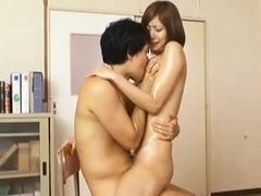 Horny Oiled Up Teacher Yuma Asami gets facial by eliman