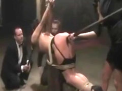 Dirty Slut in Extreme Bondage Gangbang & Humiliation