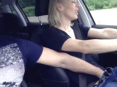 Fingering my Wife while driving