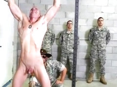 Muscle military interracial and cumshot