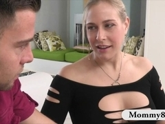 Stepmom Angel Allwood hot threeway sex with naughty couple