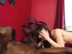 Massage babe gagging on bbc before fucking