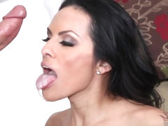 Super-hot tranny takes loads of cum