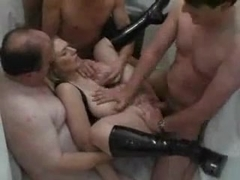 German Wife In A Swinger Club