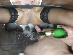 Mom son shower together