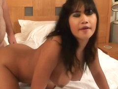 Tight Thai Babe Getting Her Pussy Doggystyle Hammered