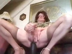 Solo with big dildos