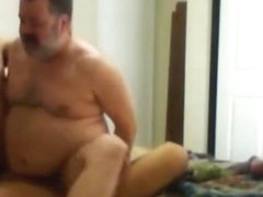 Daddy bear fucked by junior guys