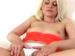European Blonde Shows Her Gaping Cunt After Using A Toy