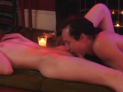 Young Teen Girl Serviced By Massage Boy