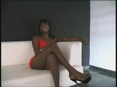 Small tits ebony shemale from one boy to another