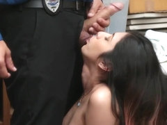 Teen Thief Seduces The Security Guard After He Caught Her