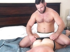 Muscle gay oral sex with facial
