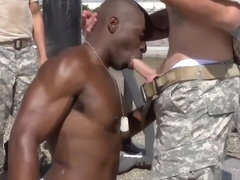 Gay naked military men in showers first time Staff Sergeant knows what is