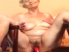 Granny Vera with a sex machine