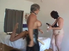 GH sick femdom threesome strap on sex pt 2