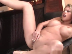Charisma Cappelli Fingers Her Shaved Pussy