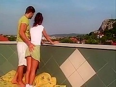 lascivious couple fuck on Roof