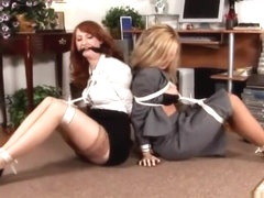 Two secretaries bound and gagged