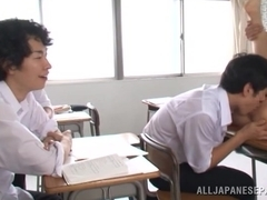 Hot teacher Akari Asahina enjoys fucking with student