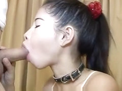 Nylon Thai Sweetie Splattered With Sperm