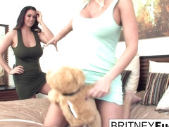 Britney Amber  Alison Tyler in Alison And Britney Use Their New Vibrating Teddy Bear - BritneyAmber