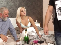 DADDY4K. Boy didn't expect that old dad will fuck his hot GF Ria Sun