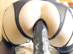 Monster Dildo Up Her Anus