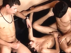 Tanned Twinks Threesome Fun! - Anibal, Ewin And Francoise - twinkylicious