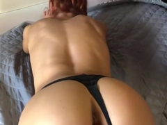 Young slim babe screaming and powerfully cums from fingers