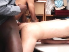 Two Black Straight Twinks Have Sex With Black Jock Mall Cop With Huge Cock After Being Caught Shop.