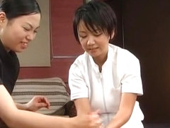 Fabulous Japanese girl Kaho Kasumi, Sasa Handa, Meguru Kosaka in Crazy Handjob JAV movie