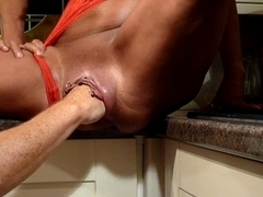 mother I'd like to fuck Fisting Session In Kitchen-L1390-