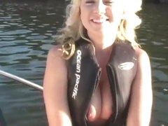 Blonde with huge tits and perfect pussy nude for all