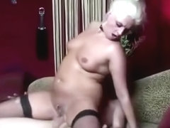 Stockings dutch whore gets a cumshot