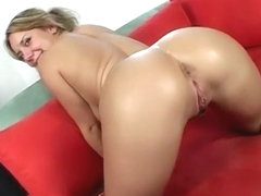 Buxom blonde with a sublime ass Allie Foster is addicted to black cock