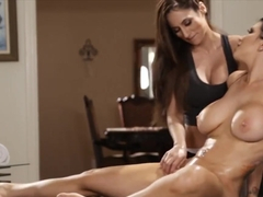 Busty Milf And Cute Masseuse Lesbian Sex On Massage Table