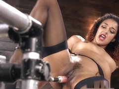 Ebony Fucking Machine And Squirting