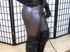 Two mistresses ballbusting boots