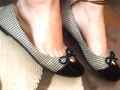 GFs dangling shoeplay sweaty flats
