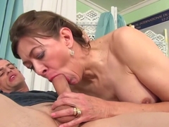 Older Tart Uses Her Mouth And Cunt To Please A Dick