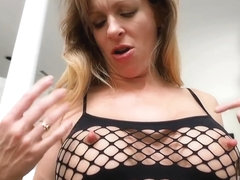 Pinching and twisting JenniLane's outSTANDING Long erect Nipples