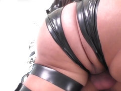 Gabriel D'Alessandro in Buxom T-Girl Anally Dominates Stud - ShemaleIdol