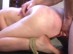 Slave Gets Threesome Anal Training